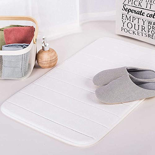(Water Absorption Rug Bathroom Mat Shag Memory Foam Bath Mat Set Kitchen Door Floor Mat Carpet for Toilet Non-Slip)