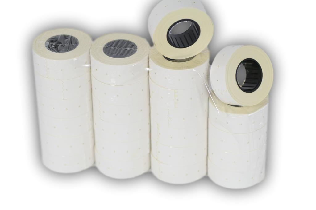 ( 24 rolls ) WHITE 21 x 12 mm Paper Sticker Price Gun Pricemarker labels MX-5500 AURIKA