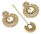 MUCH-MORE Indian Gold Plated Traditional Amazing Multi Stone Jewelry For Women (10201 CRYSTAL)
