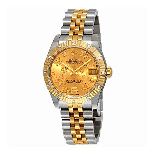 Rolex Datejust 31 Champagne Floral Dial Automatic Ladies Steel and 18 kt Gold Jubilee Watch 178313CFJ