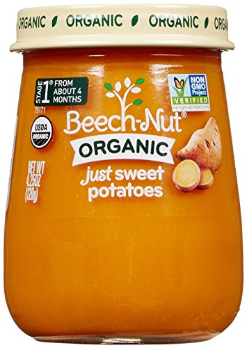 Beech-Nut Just Organic Stage 1 Purees - Just Sweet Potatoes,4.25 Ounce (Pack of 10)