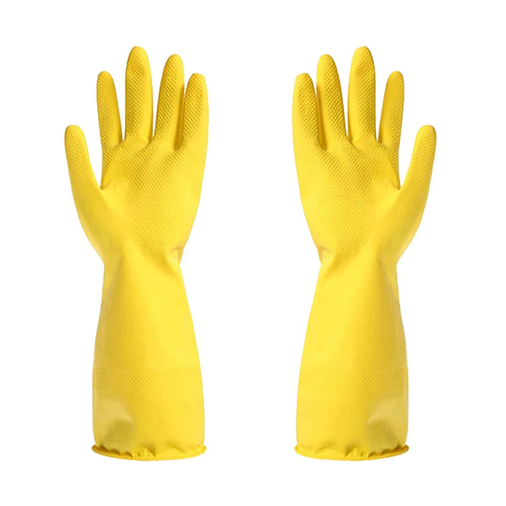 Reusable Rubber Gloves Household Dishwashing Kitchen Glove Waterproof Latex Cleaning Gloves