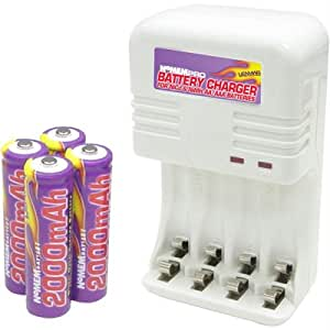 Amazon.com: Battery Charger for NiCad & NiMh AA/AAA