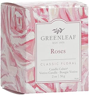 product image for GREENLEAF Scented Votive Candle - Roses - Burns 15 Hours - Made in The USA