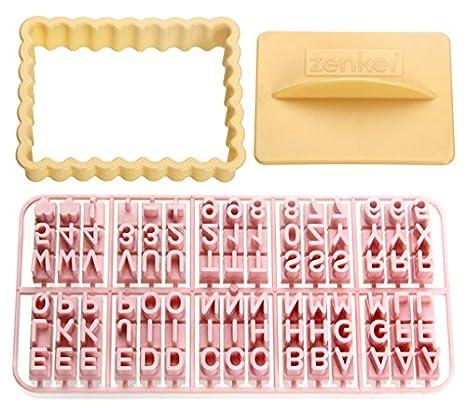 Zenker 44827 Moldes para galletas con letras, plástico, multicolor: Amazon.es: Hogar