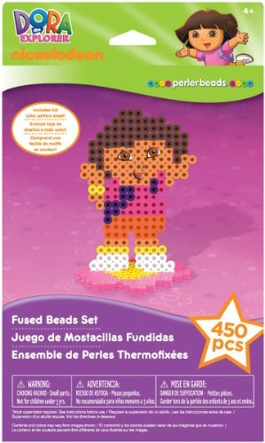Nickelodeon Dora The Explorer Fuse Bead Value Activity Kit ~ 450 Pieces by Perler