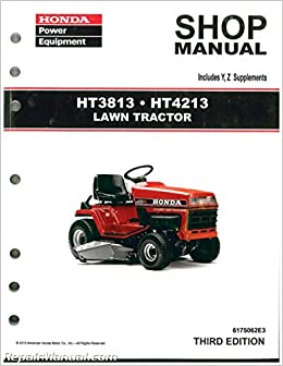 Admirable 6175062E3 Honda Ht3813 Ht4213 Lawn Tractor Shop Manual Manufacturer Wiring Digital Resources Funapmognl