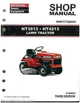 6175062e3 honda ht3813 ht4213 lawn tractor shop manual manufacturer rh amazon com Honda HT3813 Parts List Honda HT3813 Lawn Tractor Manual