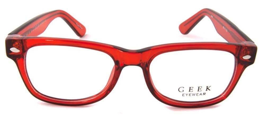 3fcffb8251d Amazon.com  Geek Eyewear Rad09 Eyeglasses Red Crystal Clear  Health    Personal Care