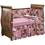 HiEnd Accents Oak Camo Crib Set, Pink