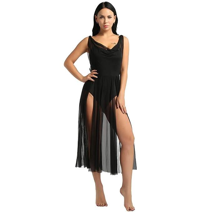 IEFIEL Vestido Latino para Mujer Danza Clásica Salsa Tango ...