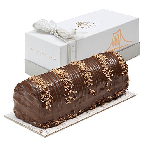 Fames Chocolates Zebra Halva Log - Great Thinking of You Appreciation Gift (Zebra Halva) (Dessert Christmas Log)