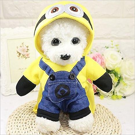 Perros Mascotas Gatos Ropa Soporte Minions Perro Ropa Divertida Halloween Mascotas Ropa Turned: Amazon.es: Productos para mascotas