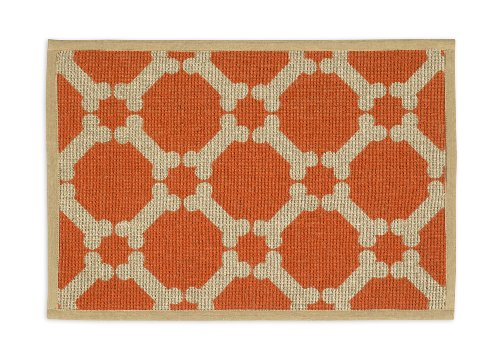 Buddy's Line Natural Jute Pet Placemat, Tangerine Background by Buddy's Line