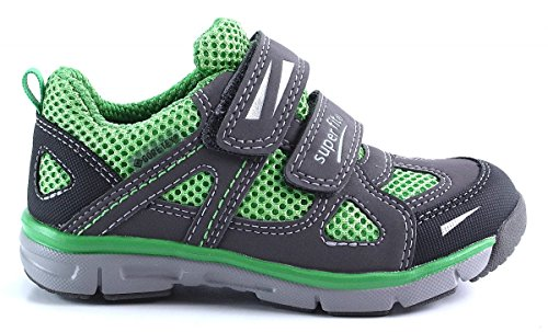Superfit Tecno, 600411, Kinder Sneaker, stone-Kombi Grün