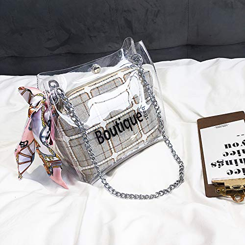 4425564d55 WSLMHH Borsa femminile trasparente marea versione coreana della borsa  piccola borsa estiva moda borsa a tracolla
