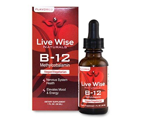 Vitamin B12 Liquid Drops, Sublingual, Methylcobalamin, Vegan, Non GMO, Superior Absorption Over Pills, Capsules, Soft Gels, Patches, 1000/3000/6000mcg (1 oz. Flavored (60 Servings))