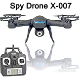 KiiToys Camera Drone with Spy Camera - X007 Quadcopter HD Camera 720p 2MP, 6 Axis Gyroscope, 7.4V Battery, Easy To Fly Great for Beginners (2018 Version)