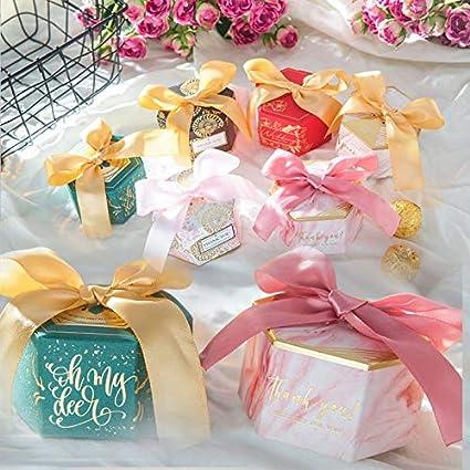 Bolsa de regalo Caja De Papel De Caramelo Con Cinta Bebé Ducha ...