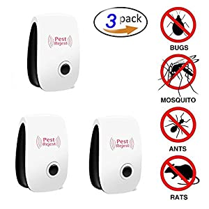 Nirvana Sailor Ultrasonic Rechargeable Pest Repeller Nontoxic Pest Controller Electronic Safe Plug & Play Design Eco-Friendly Durable Quality Best Anti Mosquito Insect Repeller (Set of 3)