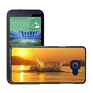 Just Phone Cases Etui Housse Coque de Protection Cover Rigide pour // M00421768 Lago Balaton puesta del sol Splash // HTC Desire 510
