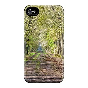 Snap-on Road Trees Case Cover Skin Compatible With Iphone 4/4s