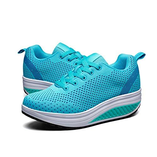 Mujer Lona Azul de de Zapatillas LFEU Running q4xvYXOIw