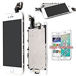 Screen Replacement For Iphone 6 Lcd Touch Display - White Recyco Full Set With Frame Glass Digitizer Assembly With Home Button & Camera