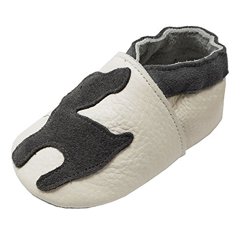 (YIHAKIDS Soft Sole Baby Toddler Shoes First Walker Leather Moccasins Cartoon Fawn Baby Slippers (4-4.5 US /0-6 Mo./4.7in,)