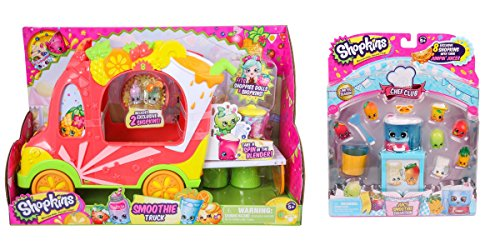 Shopkins Smoothie Truck and Shopkins Chef Club Juicy Smoothie Collection Bundle Set (Shopkins Juicer compare prices)