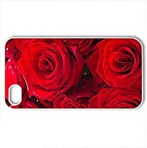 Roses - Case Cover for iPhone 4 and 4s (Forces of Nature Series, Watercolor style, White)