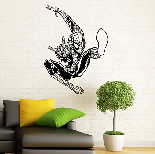 Spiderman Wall Decal Wall Vinyl Sticker Marvel Comics Superhero Interior Home Art Wall Murals Bedroom Decor (2sp01n)