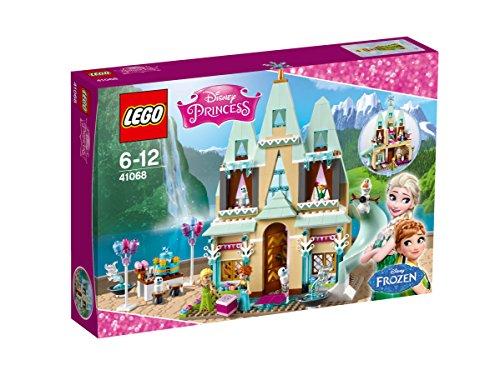LEGO Disney Princess – Celebración en el Castillo de Arendelle, Juguete de Construcción del Palacio de Frozen, Incluye MiniFiguras de Olaf y de Elsa y Anna  (41068)