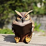 Cheap Ivy Home Schooling Garden Solar Resin Statuary Owl