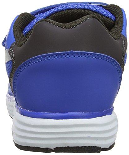 Hi-Tec Pajo Ez Jr - Zapatillas para deportes de exterior de sintético para niño azul - azul (Royal/gris oscuro/plateado 031)