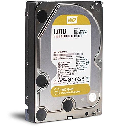 WD Gold Datacenter 1TB Internal SATA Hard Drive for Desktops Black WD1005FBYZSP