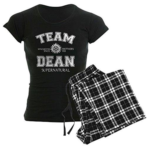 CafePress - Team Dean Supernatural Womens Dark Pajamas - Womens Novelty Cotton Pajama Set, Comfortable PJ Sleepwear