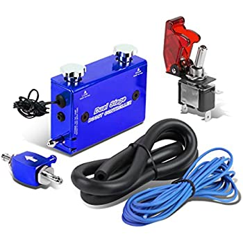Dual Stage Turbocharger Boost Electronic Controller Kit + Rocket Switch (Blue)