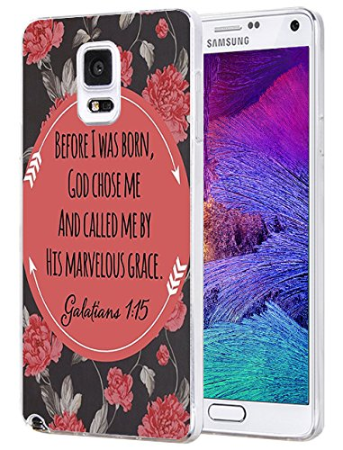 Price comparison product image Note 4 Case Ultra [Slim Thin] Scratch Resistant Protective Case Cover for Samsung Galaxy Note 4 Before I was Born,  God Chose Me and Called Me By His Marvelous Grace