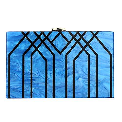 Bleu pour MANYYSI Pochette Femme Unique Ivoire Taille YYgxrw