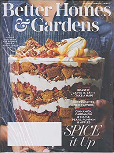 Better Homes Gardens November 2018 Spice It Up The