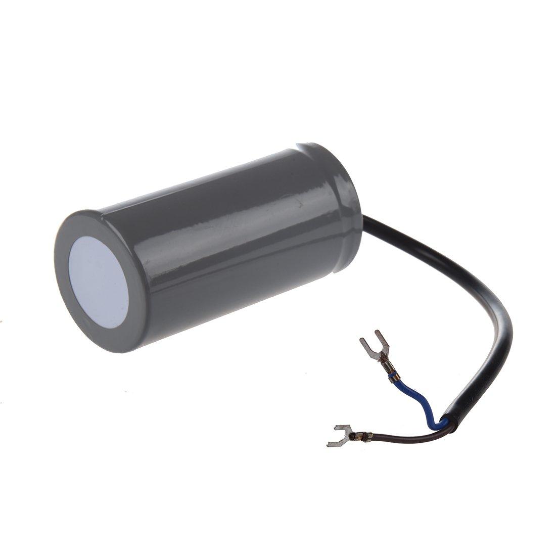 R CD60 AC 250V 150uF Verdrahteter Einphasenmotor Start Kondensator Grau Einphasenmotor TOOGOO