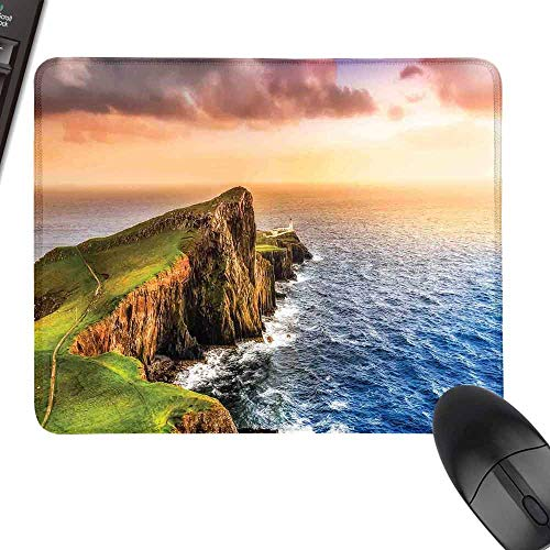 Gaming Mousepad,Lighthouse Decor,with Stitched Edges,11.8