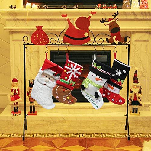 FORUP Santa Christmas Stocking Holder Stand Hangers