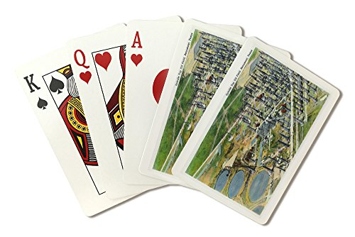 Bedroom Spindle (Beaumont, Texas - Aerial View of the Spindle Top Oil Field (Playing Card Deck - 52 Card Poker Size with Jokers))