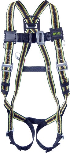 Miller DuraFlex Stretchable Warehouse Picker's Full Body Safety Harness with Back D-Ring Web Extension, Small/Medium, 400 lb. Capacity (E850-2/S/MGN)