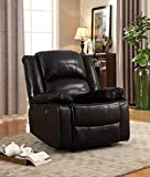 NHI Express Samantha Bonded Leather Recliner, Black