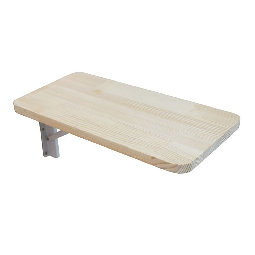 Wall-mounted folding table LXF Solid Wood Simple Against The Wall Dining Table Bedroom (Size : 4040cm)