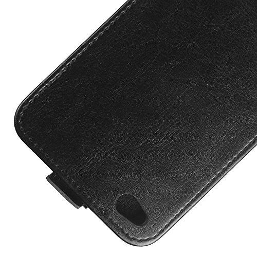 Para Xiaomi Redmi Note 5A Caso compacto de piel PU, arriba-abajo piel abierta PU Funda de piel con ranura para tarjeta y función de protección completa con cierre magnético Caja a prueba de golpes pol Negro