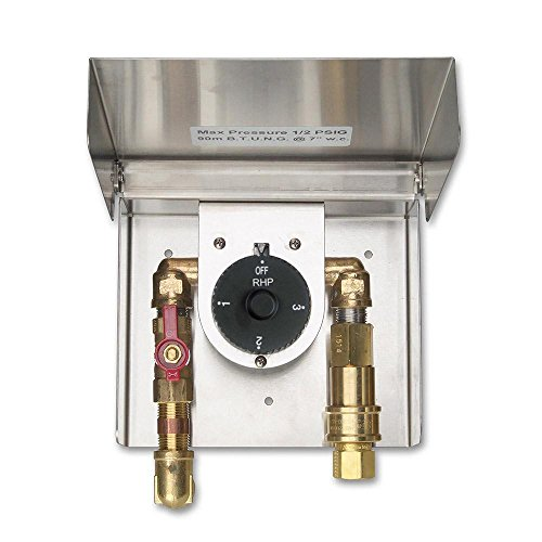 Fire Magic Grills Gas Connection Box with Quick Disconnect & Automatic Timer (3 Hour (Fire Magic Automatic Timer)